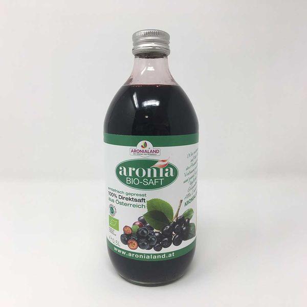 Aronia BIO - SAFT 0,5L Glasflasche